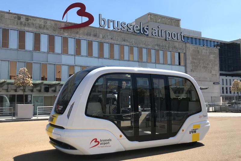 Brussels Airport:Autonomous Shuttles Serving Brussels Airport Last Mile Transit Needs