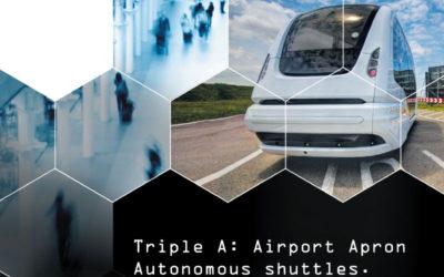 Autonomous shuttles on the airport apron